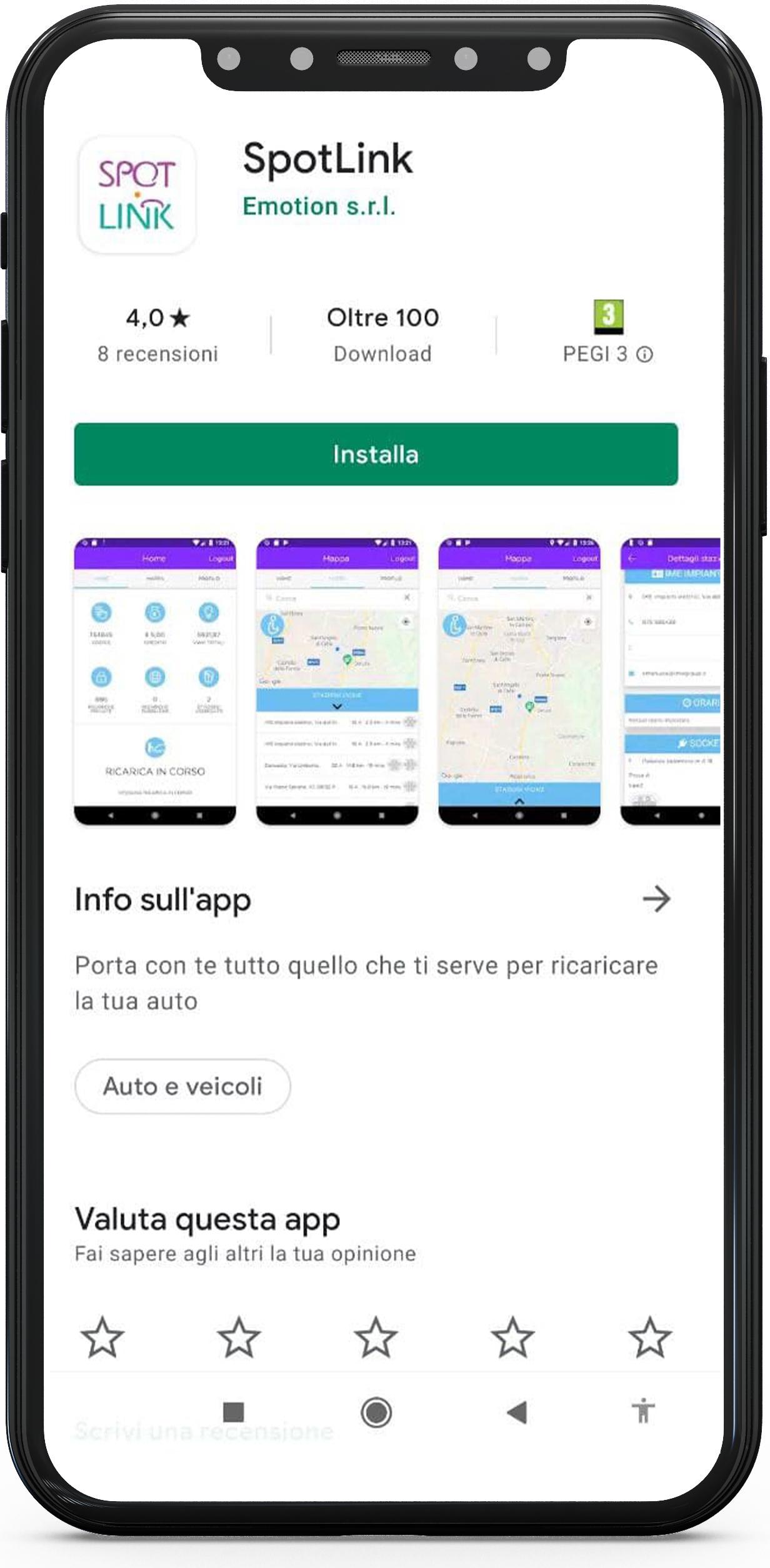 app spotlink colonnine di ricarica elettrica
